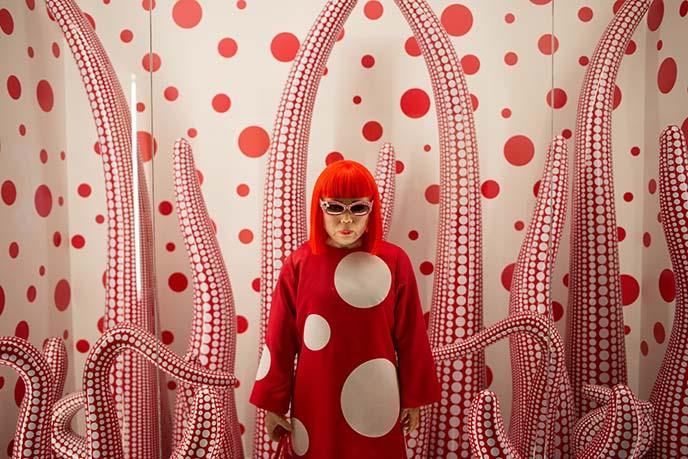yayoi kusama mannequin, japanese artist
