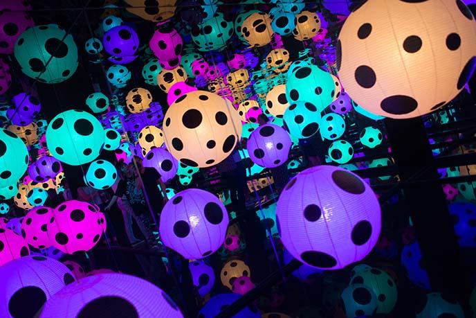 kusama dot lanterns