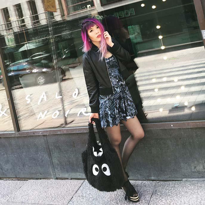 nu goth fashion blogger style