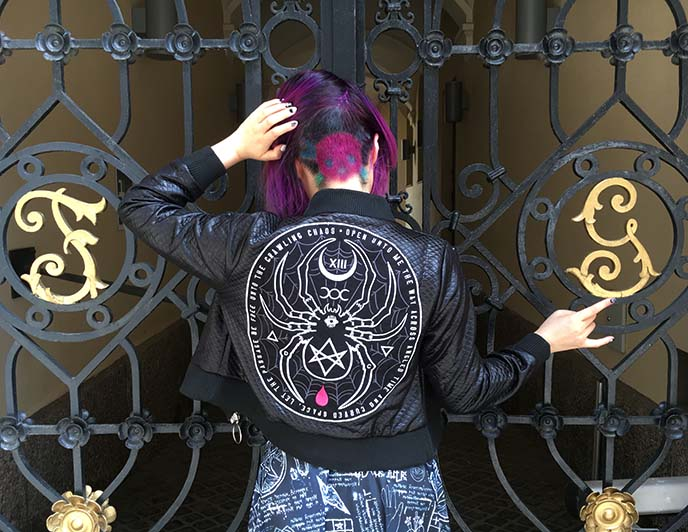 disturbia spider bomber jacket