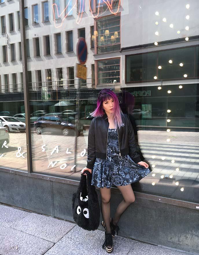pentagram dress, witch nu goth fashion