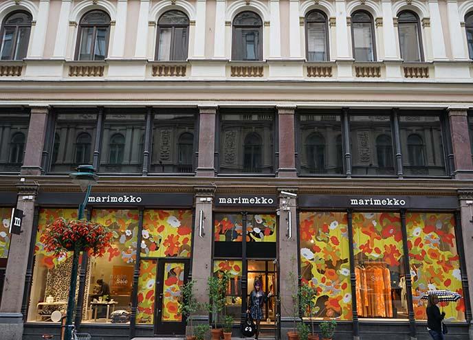 marimekko shop, helsinki finland