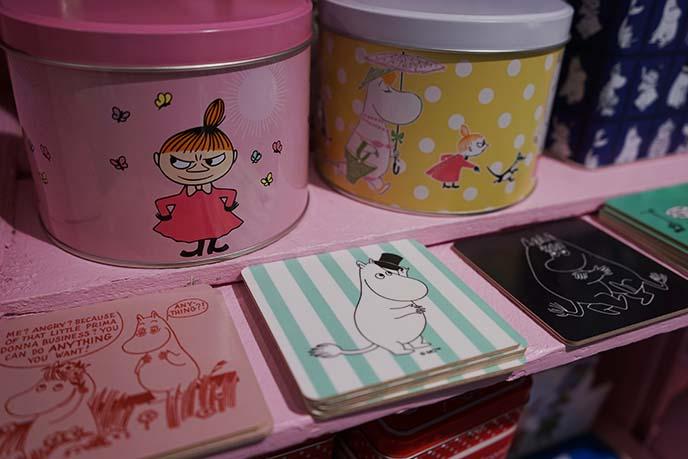 cute moomin stores, helsinki