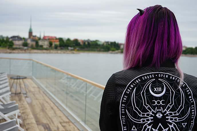 goth spider bomber jacket, disturbia widow