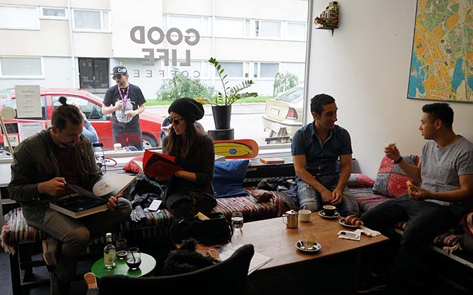 hipster cafe, coffee shop scandinavia