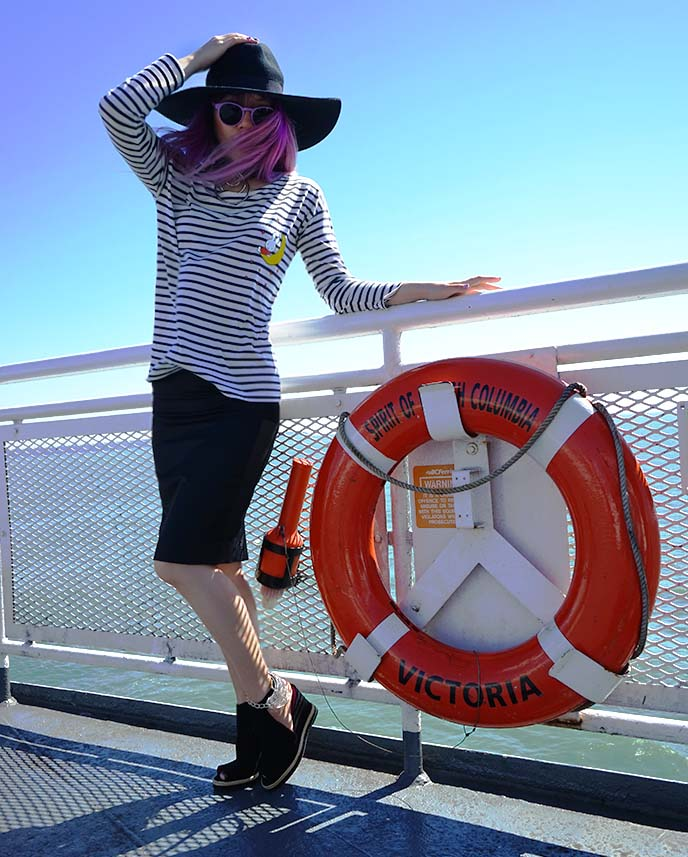 goth sailor fashion blogger