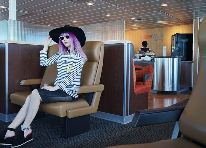 seawest lounge, bc ferries vip