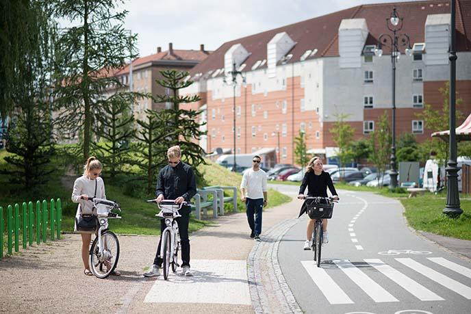 riding bicycles copenhagen
