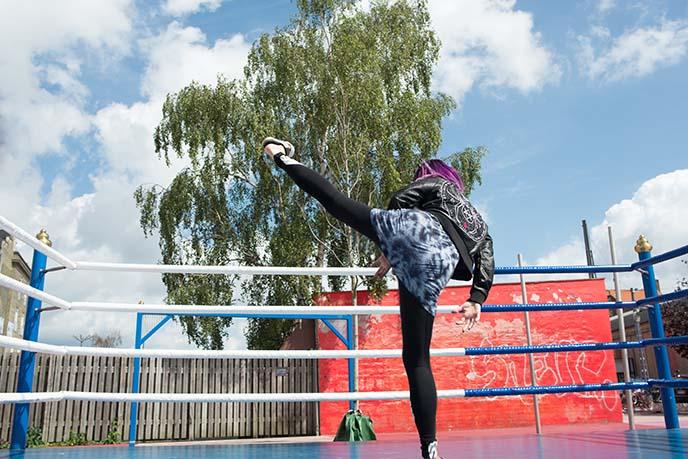 high kick, martial arts