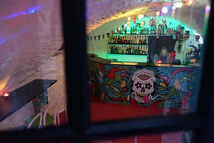 sugar skull themed bar