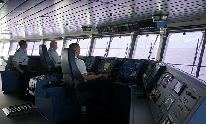 tallink silja ferry, captain's deck