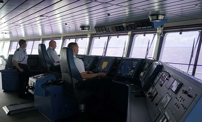 tallink silja ferry, captain's deck