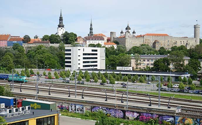 viewpoint tallinn estonia rooftops