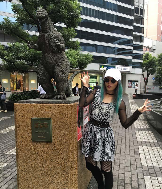 ginza hibiya godzilla statue
