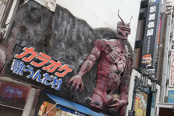weird statue theme karaoke tokyo