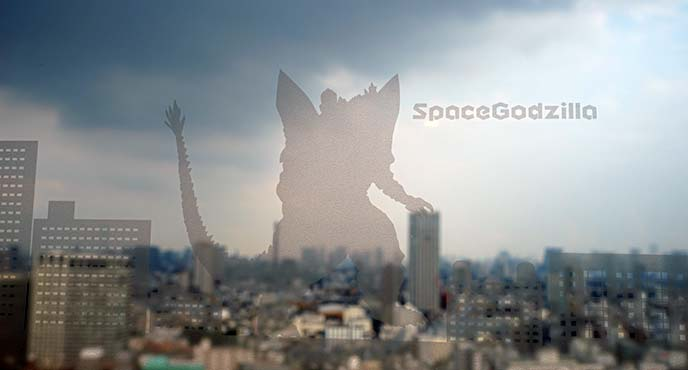 space godzilla window