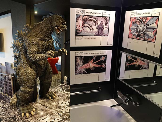 book godzilla theme hotel room
