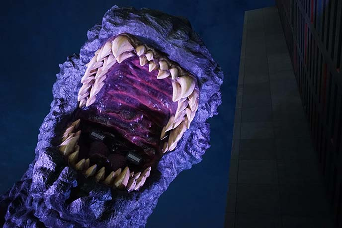 godzilla teeth roar sculpture