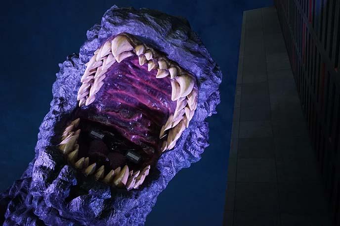 godzilla teeth roar sculpture