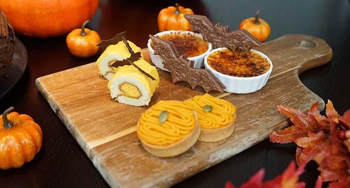 bat shaped cookies, pumpkin cake grand hyatt