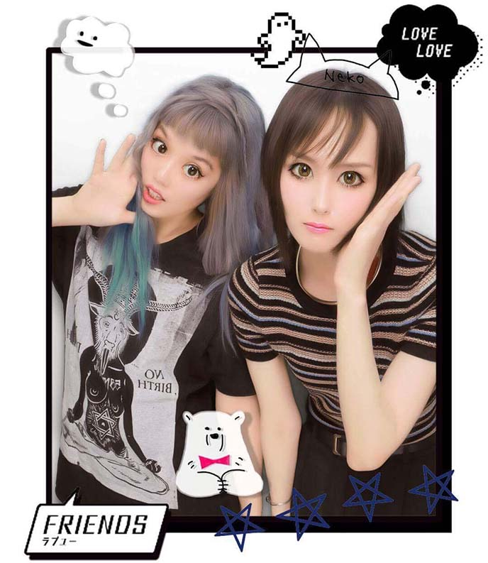 kawaii sticker pictures japanese girls
