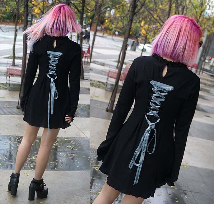 morph8ne lace up dress, attitude clothing shop