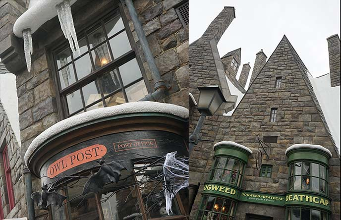 owl post, dogweed deathcap, harry potter world