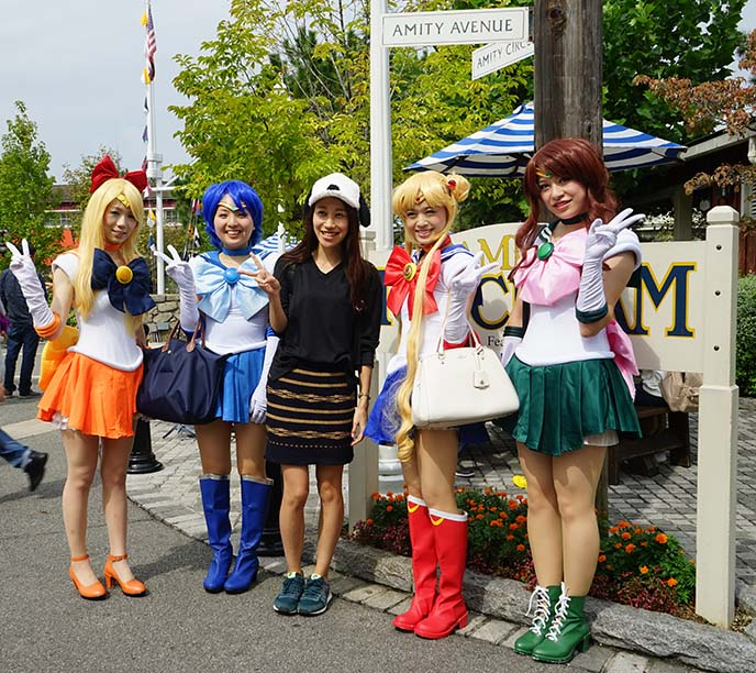 sailor moon group cosplay girls japan