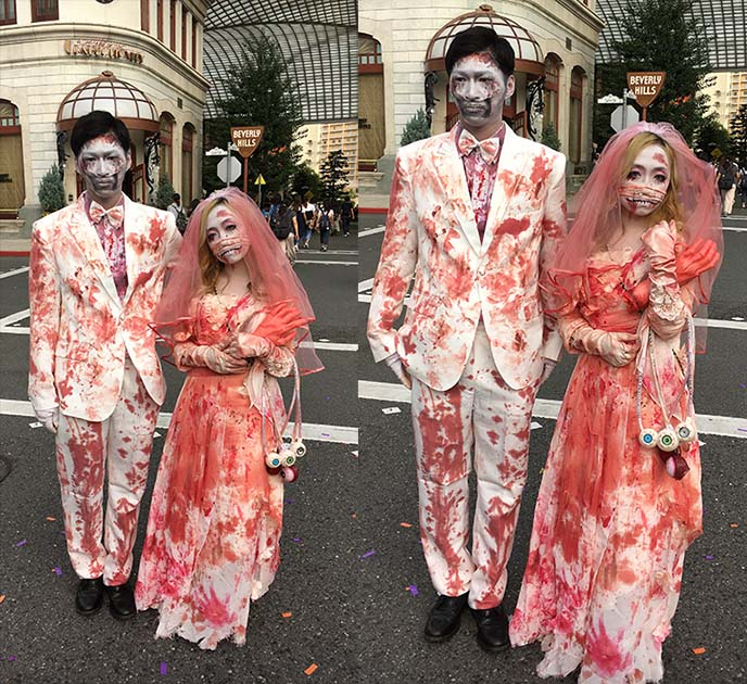 wedding zombies bride groom undead - Halloween Universal Studios Tickets