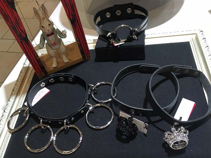 silver ring chokers japan