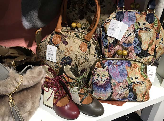 antique vintage kitty purses