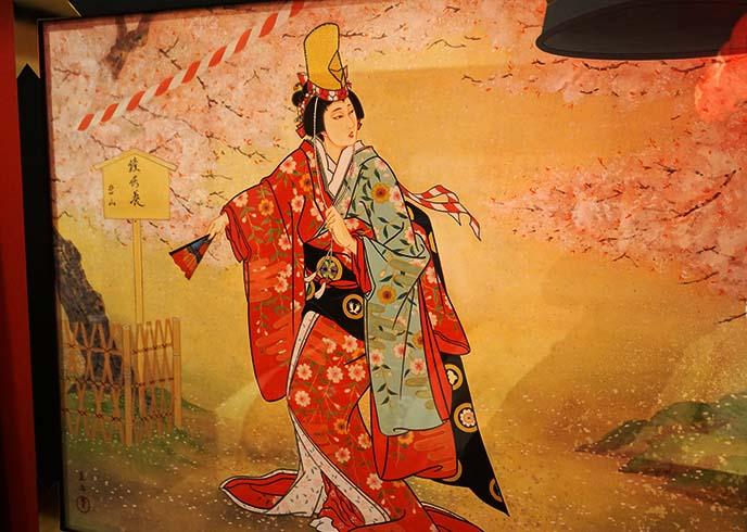 kabuki dancer performer painting