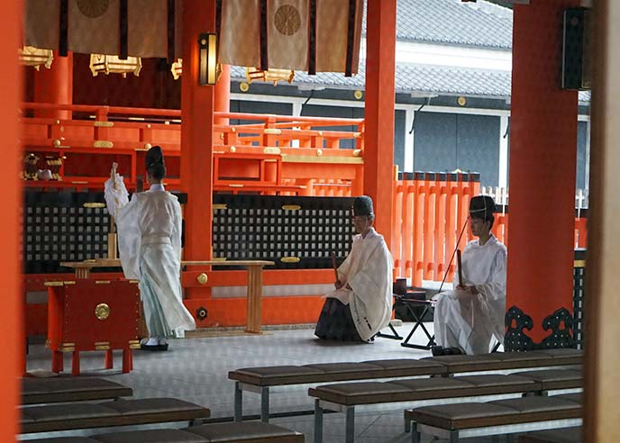 shinto priests ceremony ritual worship