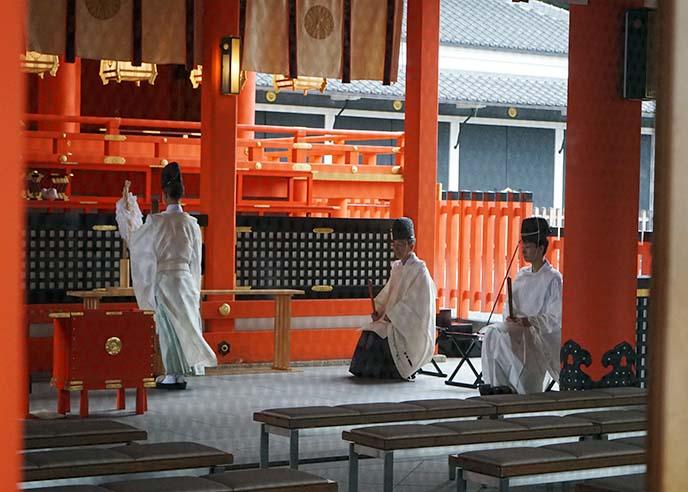 shinto priests ceremony ritual worship