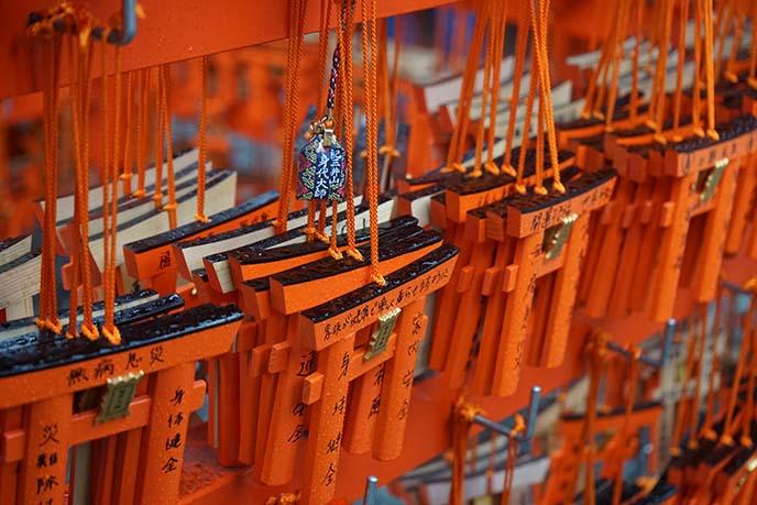 red orange famous shrine gates path japan