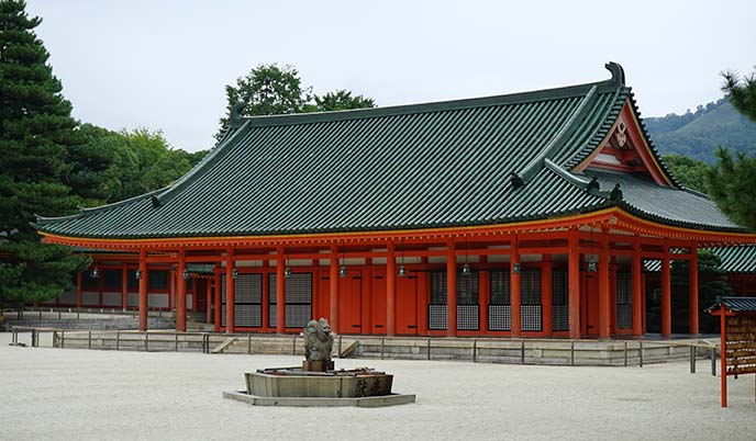 Heian Shrine Kyoto, famous temples