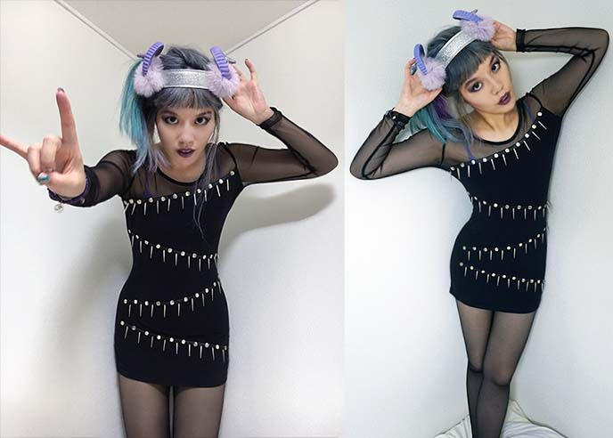 goth punk spikes sexy dress
