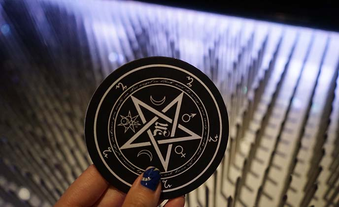 pentagram tarot coasters home decor