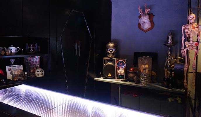 goth halloween themed bar japan