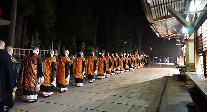koya buddhist monks procession