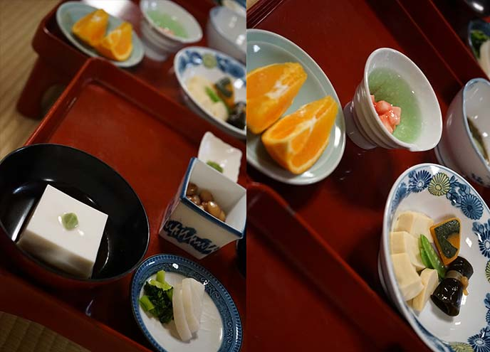 vegetarian food mount koya