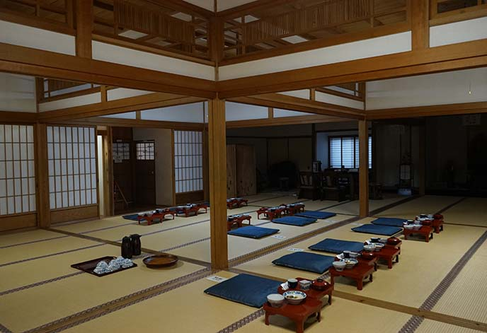 koyasan temple monk dining hall