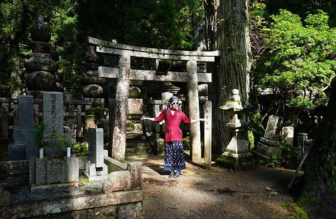 buddhist cemetery, mount koya