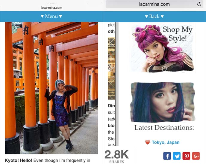 mobile friendly fashion blog theme design