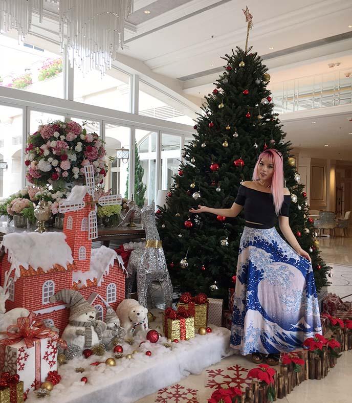 goth christmas tree, decoration