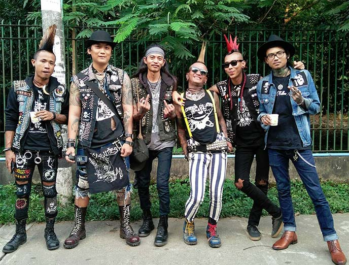 Myanmar burma punk rockers, band punks