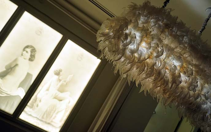 feathers chandelier ceiling light