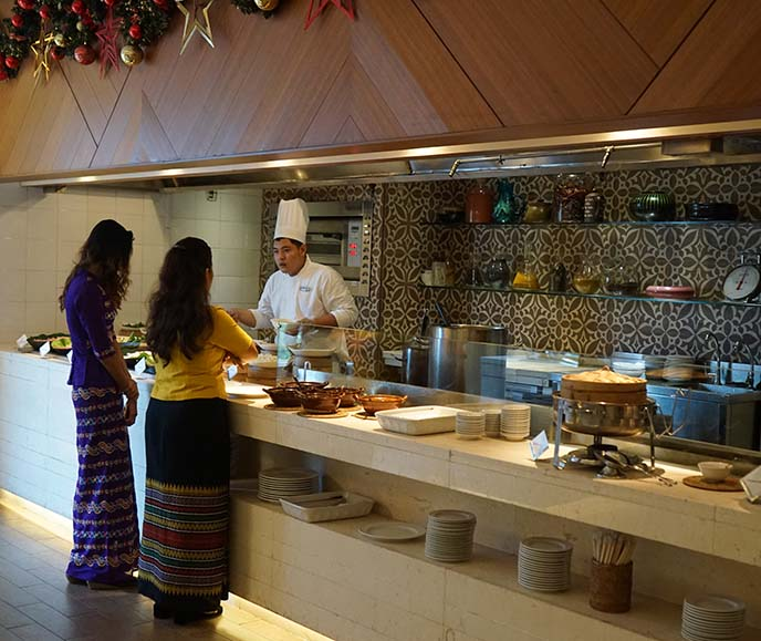 parkroyal yangon buffet, food