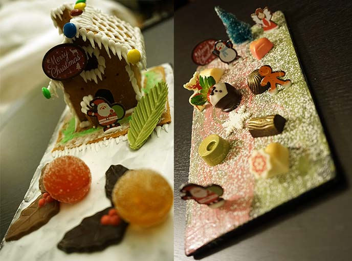 kawaii cute gingerbread house chocolates