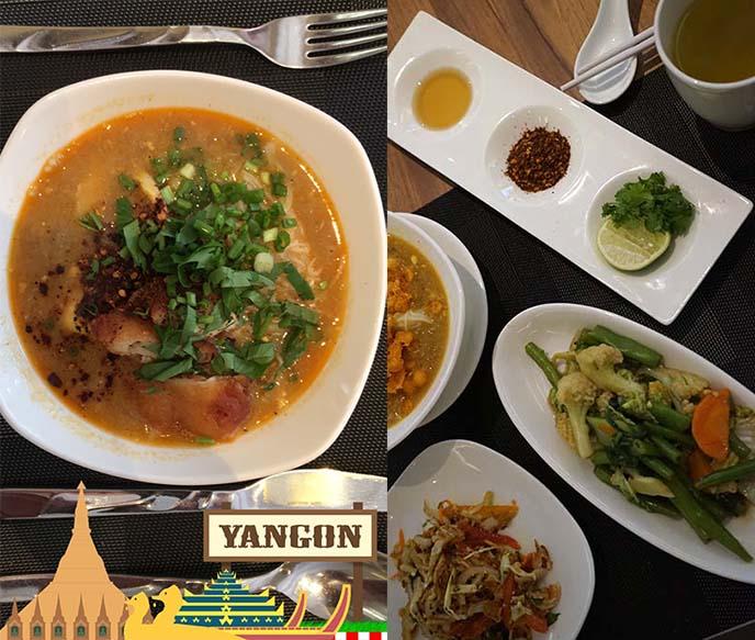 best mohinga myanmar yangon cafe